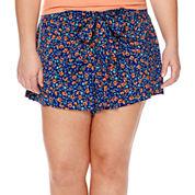 Arizona Low-Rise Wrap Shorts - Juniors Plus