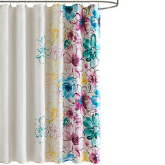 Intelligent Design Ashley Printed Shower Curtain