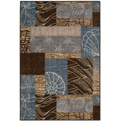 Ocean Collage Rectangular Rug