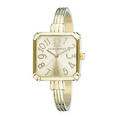 Laura Ashley Womens Gold Tone Bangle Watch-LA31024YG