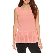 Worthington Sleeveless Drop-Waist Peplum Top and Curvy Fit Pants