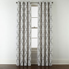 Studio™ Casey Jacquard Grommet-Top Curtain Panel