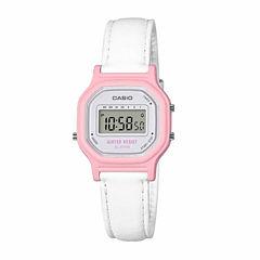 Casio Womens White Strap Watch-La11wl-4a