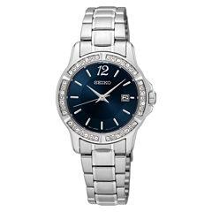 Seiko Womens Silver Tone Bracelet Watch-Sur721