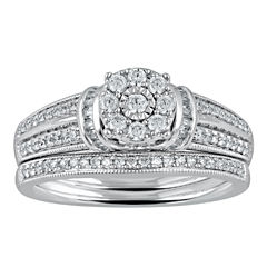 Cherished Hearts™ 1/2 CT. T.W. Diamond 14K White Gold Bridal Ring Set