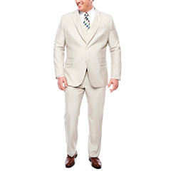 JF J. Ferrar Bone Shimmer Shark Suit Separates- Big and Tall