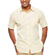 Van Heusen Short Sleeve Oasis Print Button-Front Shirt- Big & Tall
