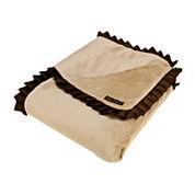 Trend Lab® Carmel & Brown Ruffle Receiving Blanket