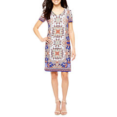 London Style Short Sleeve Shift Dress