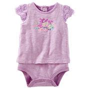 Oshkosh Short Sleeves Bodysuit -Baby Girls