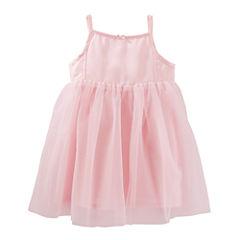 Oshkosh Sleeveless Spaghetti Straps A-Line Dress - Toddler Girls
