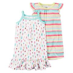 Carter's2pk GownSet-Preschool Girls