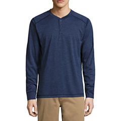 St. John's Bay Long Sleeve Performance Henley Shirt