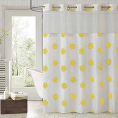 Hookless Sunburst Floral Shower Curtain