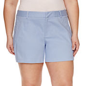 a.n.a Cotton Chino Shorts-Plus