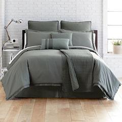 Studio™ Micro Grid 4-pc. Comforter Set + BONUS Coverlet