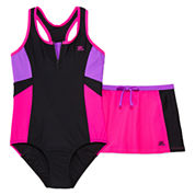 ZeroXposur® 2-pc. Swimsuit with Shorts Set - Girls 7-16