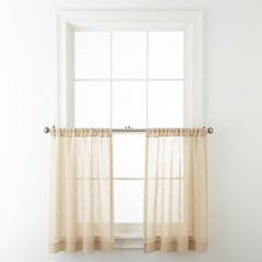 JCPenney Home™ Bayview Rod-Pocket Sheer Window Tiers