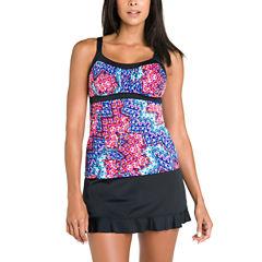 Jamaica Bay® Euphoria Framed Peasant Tankini or Shaping Tricot Swim Skirt