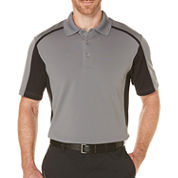PGA Tour Short Sleeve Mesh Polo Shirt- Big & Tall