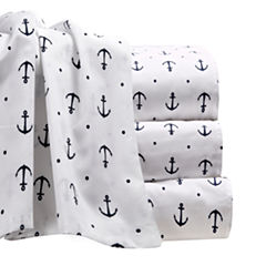 By The Seashore Microfiber Anchors Sheet Set