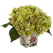 Hydrangea Silk Floral Arrangement
