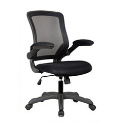 RTA Products LLC Techni Mobili Mesh Task With Flip Up Arms Office Chair