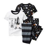 Carter's® Black Space 4-pc. Pajama Set - Baby Boys newborn-24m