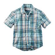 Carter's® Short-Sleeve Plaid Woven Shirt - Preschool Boys 4-7