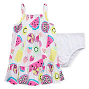 Okie Dokie Sleeveless A-Line Dress - Baby Girls