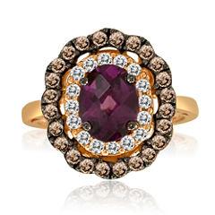 LIMITED QUANTITIES  Le Vian Grand Sample Sale Rhodolite, White Sapphire and Brown Quartz Ring