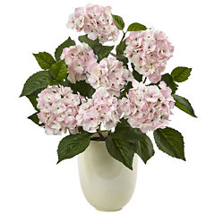 Pink Hydrangea Silk Floral Arrangement