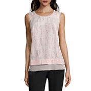 Worthington Sleeveless Layered Top