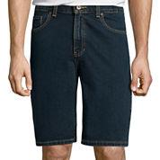 St. John's Bay® Regular-Fit 5-Pocket Flat-Front Denim Shorts