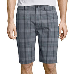 Arizona Plaid Flat-Front Shorts
