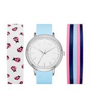 Mixit Womens Multicolor Strap Watch-Fmdjps096