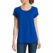 a.n.a Short Sleeve Scoop Neck T-Shirt-Talls