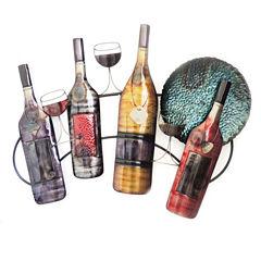 Wine Bottle Glass Wall Decor