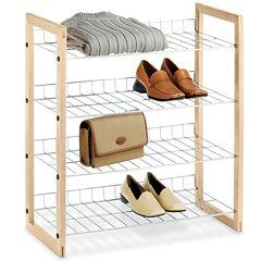 Whitmor Chrome and Wood Closet Shelves