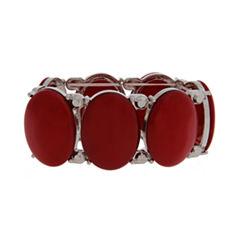 Mixit™ Red Silver-Tone Stretch Bracelet