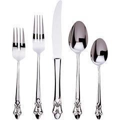 Ginkgo Fleur De Lis 20-pc. 18/10 Stainless Steel Flatware Set