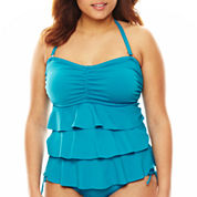 Pure Paradise® Solid Ruffle Bandini Swim Top