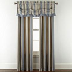 Royal Velvet® Lazarro Stripe Rod-Pocket/Back-Tab Window Treatments