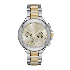 Geneva Womens Two-Tone Strap Watch