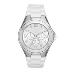Womens White Strap Watch