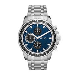 Relic® Mens Silver Blue Heath Bracelet Watch