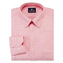 Stafford® Long-Sleeve Broadcloth Linen Look Dress Shirt