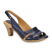 softspots® Neima Leather Slingback Pumps - Extra Wide