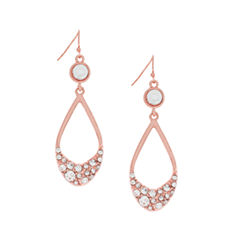 nicole by Nicole Miller® Crystal Rose-Tone Double Drop Earrings