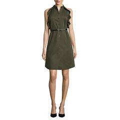 Worthington Sleeveless Shirt Dress